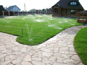 Автоматический полив садового участка