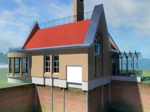 монтаж винтового фундамента для загородного дома в Нижнем Новгороде