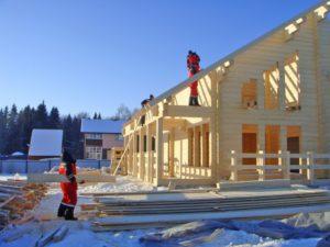 Строительство домов из бруса зимой в Нижегородской области