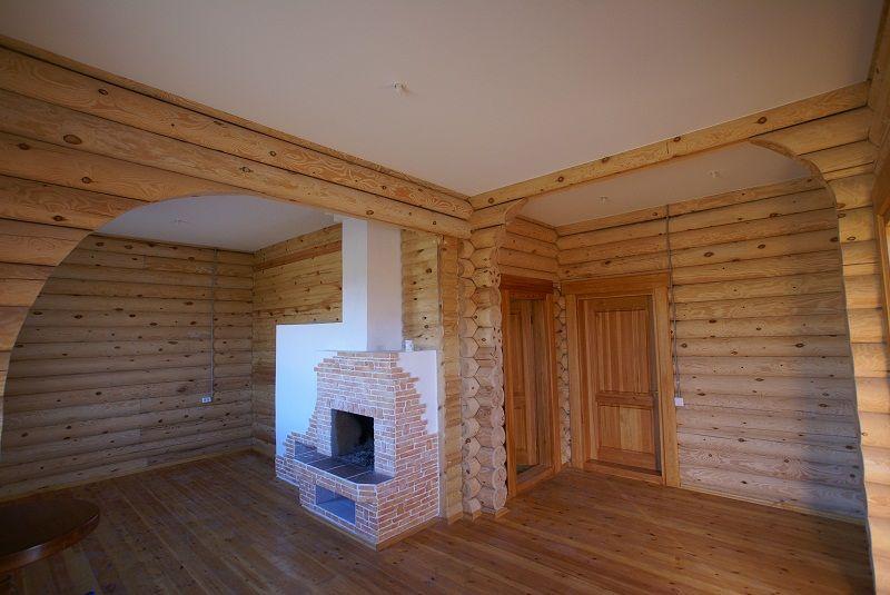 делаем потолок и стены в загородном доме