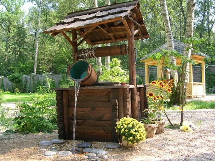 декорирование колодцев на воду