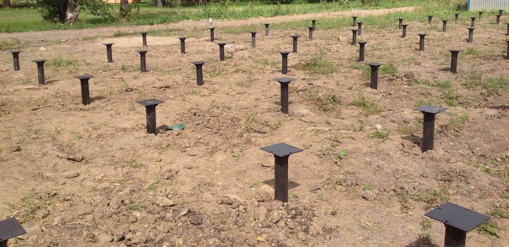 строительство фундамента на винтовых сваях