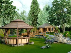 Заказать создание ландшафтного дизайна участка в Нижнем Новгороде
