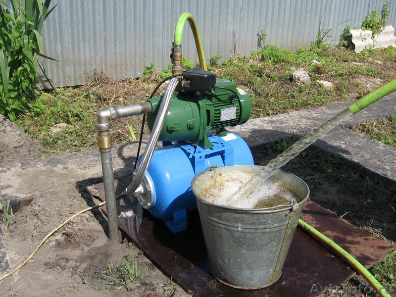 Скважина на воду в работе (эксплуатация)