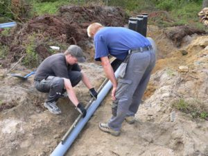 прокладка водопроводаj