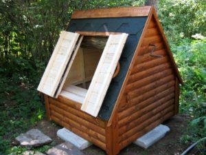Строительство колодезного домика для колодца на воду