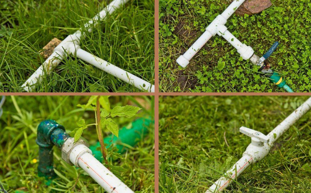 разводка труб для летнего сборного водопровода на даче
