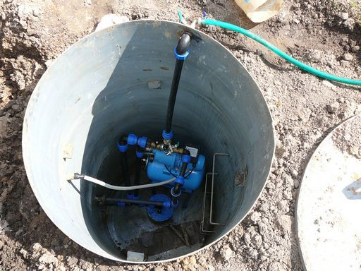 установка скважинного оборудования в кессон