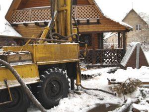 Бурение на воду зимой в Нижнем Новгороде