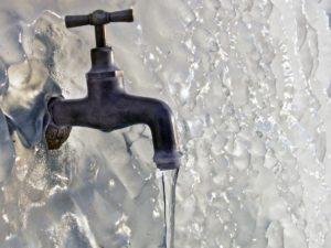 в скважине замерзла вода