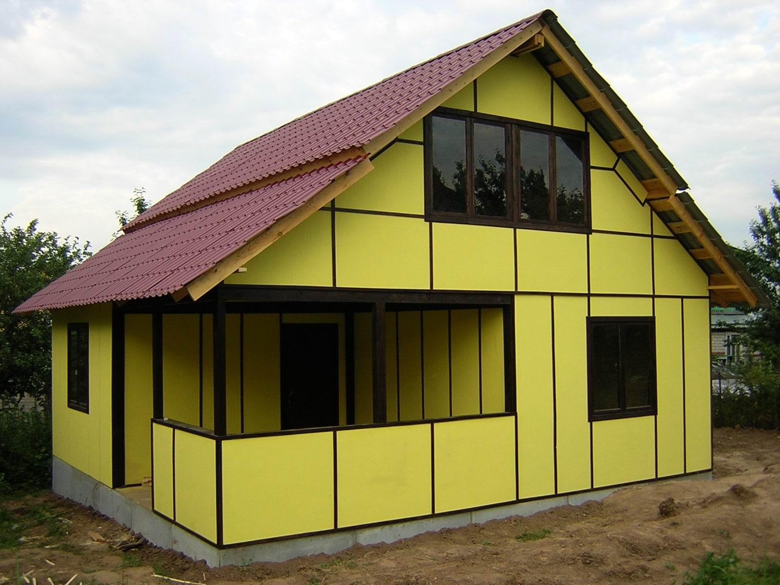 Как построить дом из сэндвича своими руками