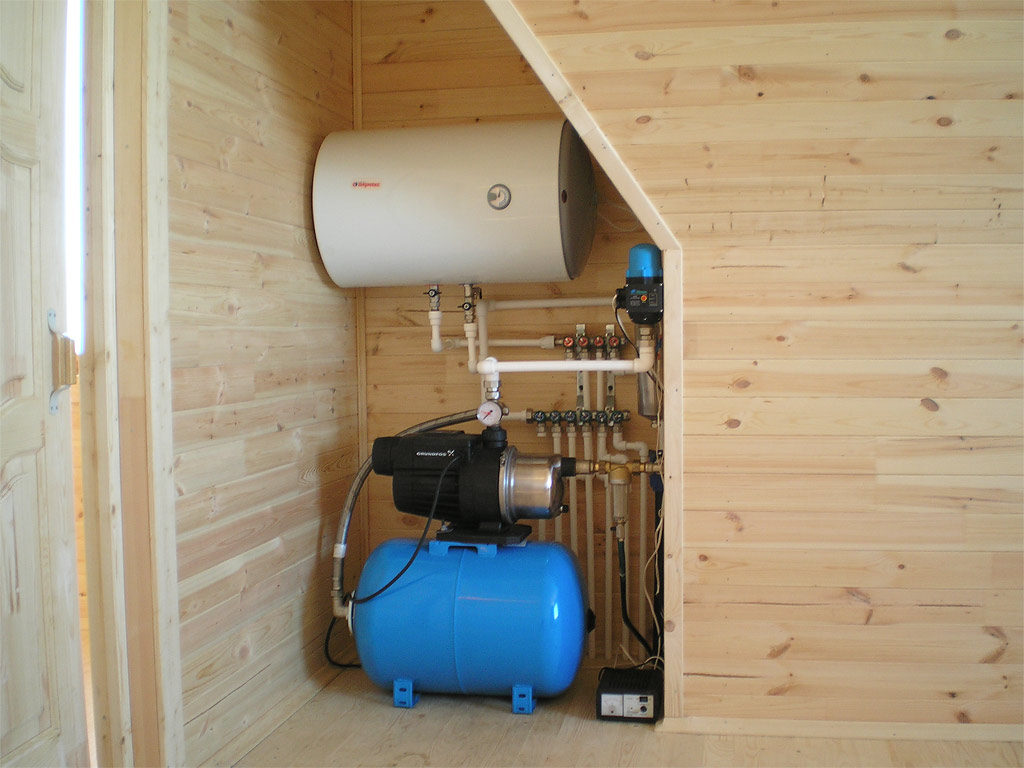 система водоснабжения бани