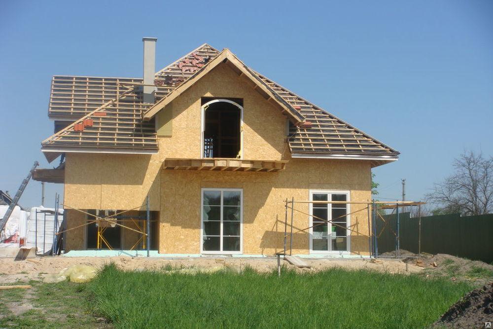 строительство дома из осб