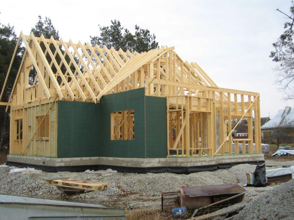 строительство каркасного дома и возведение системы водоснабжения