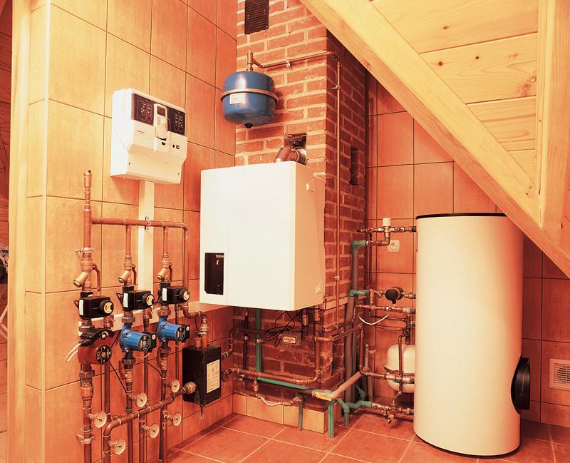 установка газового котла в загородном доме
