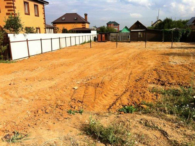 выравнивание загородного участка