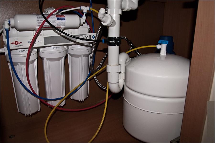 установка фильтров для очистки воды в доме