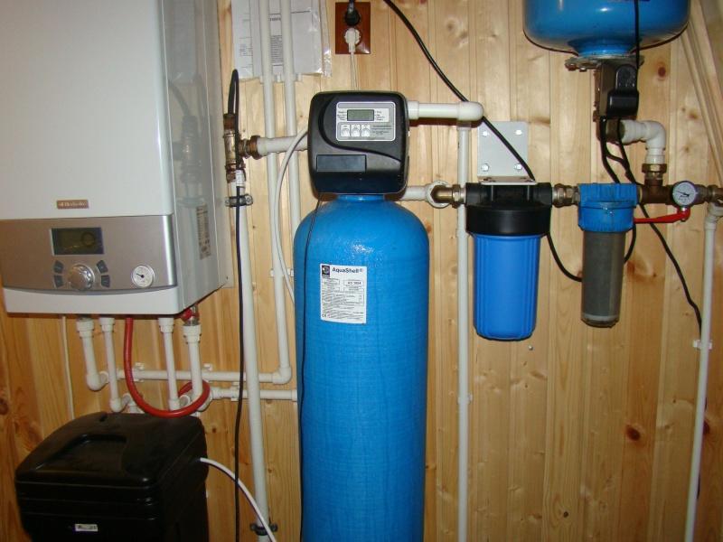 установка оборудования для очистки воды из скважины