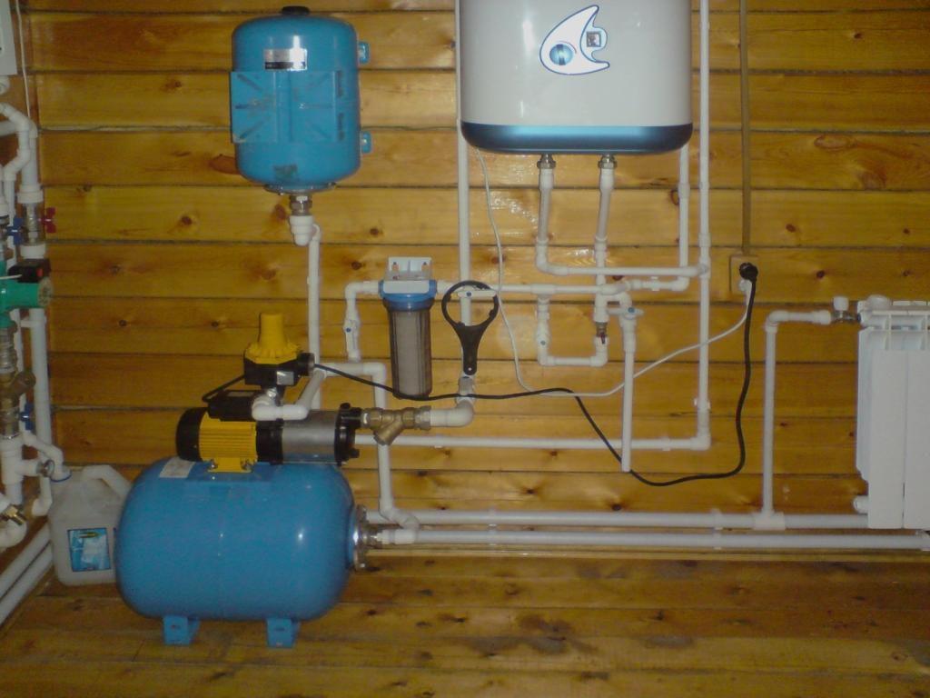 система водоснабжения в загородном доме от скважины