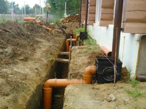 правильный монтаж ливневой канализации для загородного дома