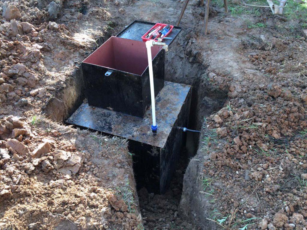 Монтаж скважинного кессона для обустройства скважины